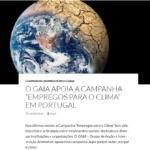 Gaia apoia a campanha